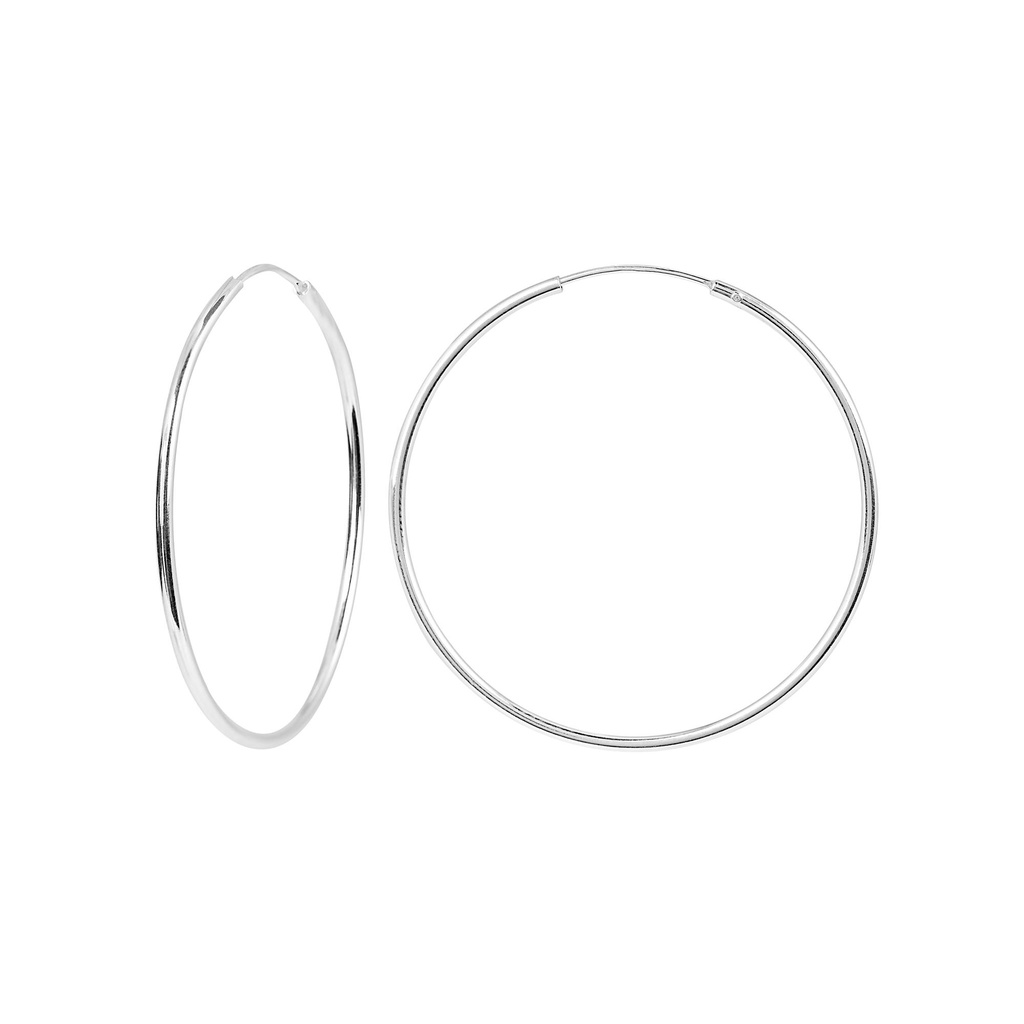 Örhängen i Sterling Silver- Hoops 35 mm
