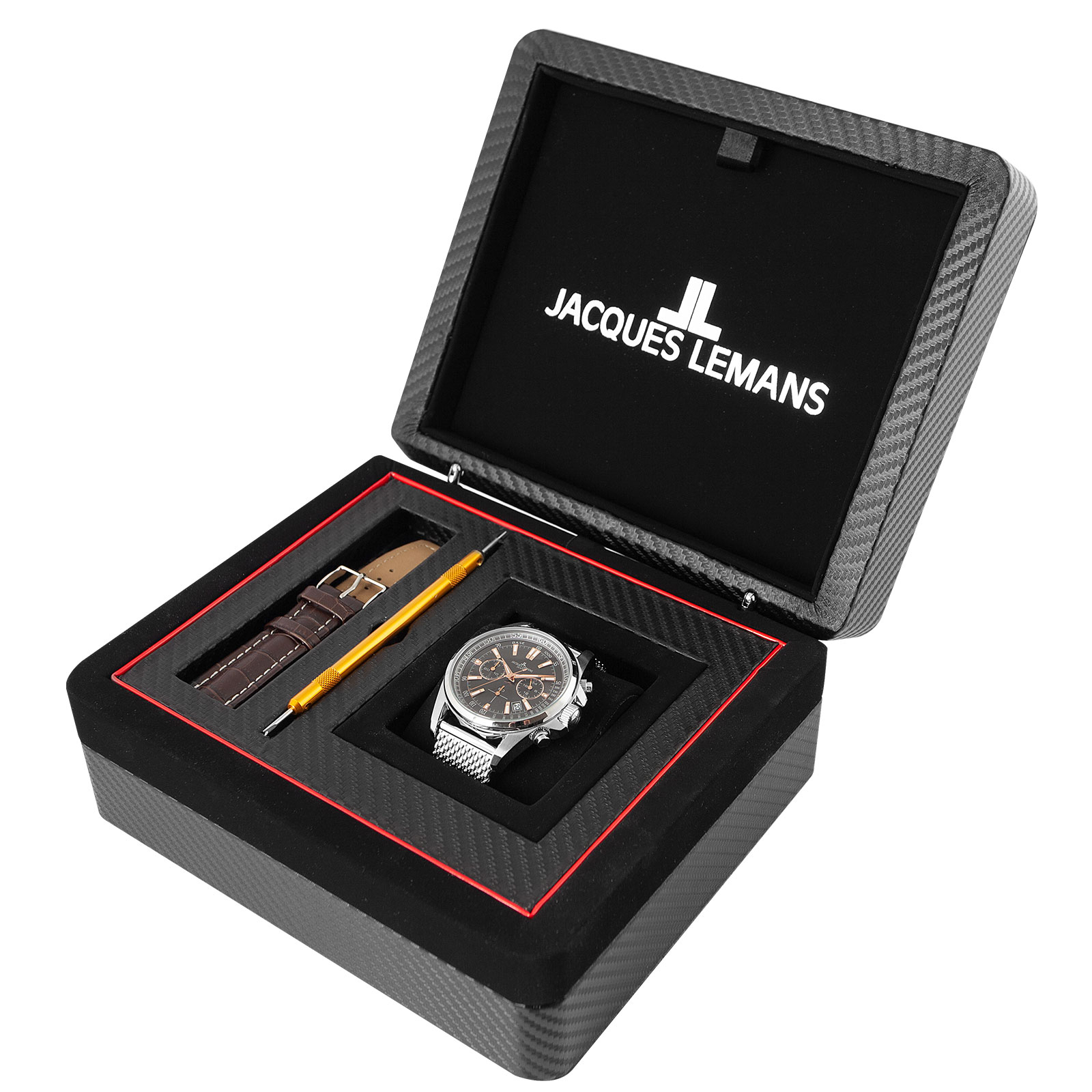 Jacques Lemans Liverpool Herrklocka med extra armband 1-11171WS