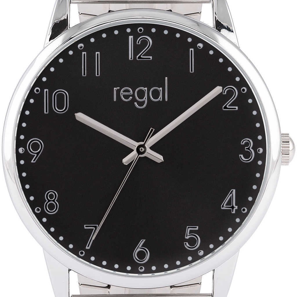 Regal Herrklocka Silver