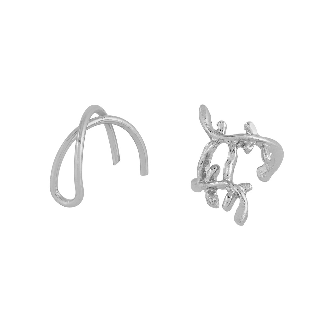 2-pack Ear cuffs Silver Montini