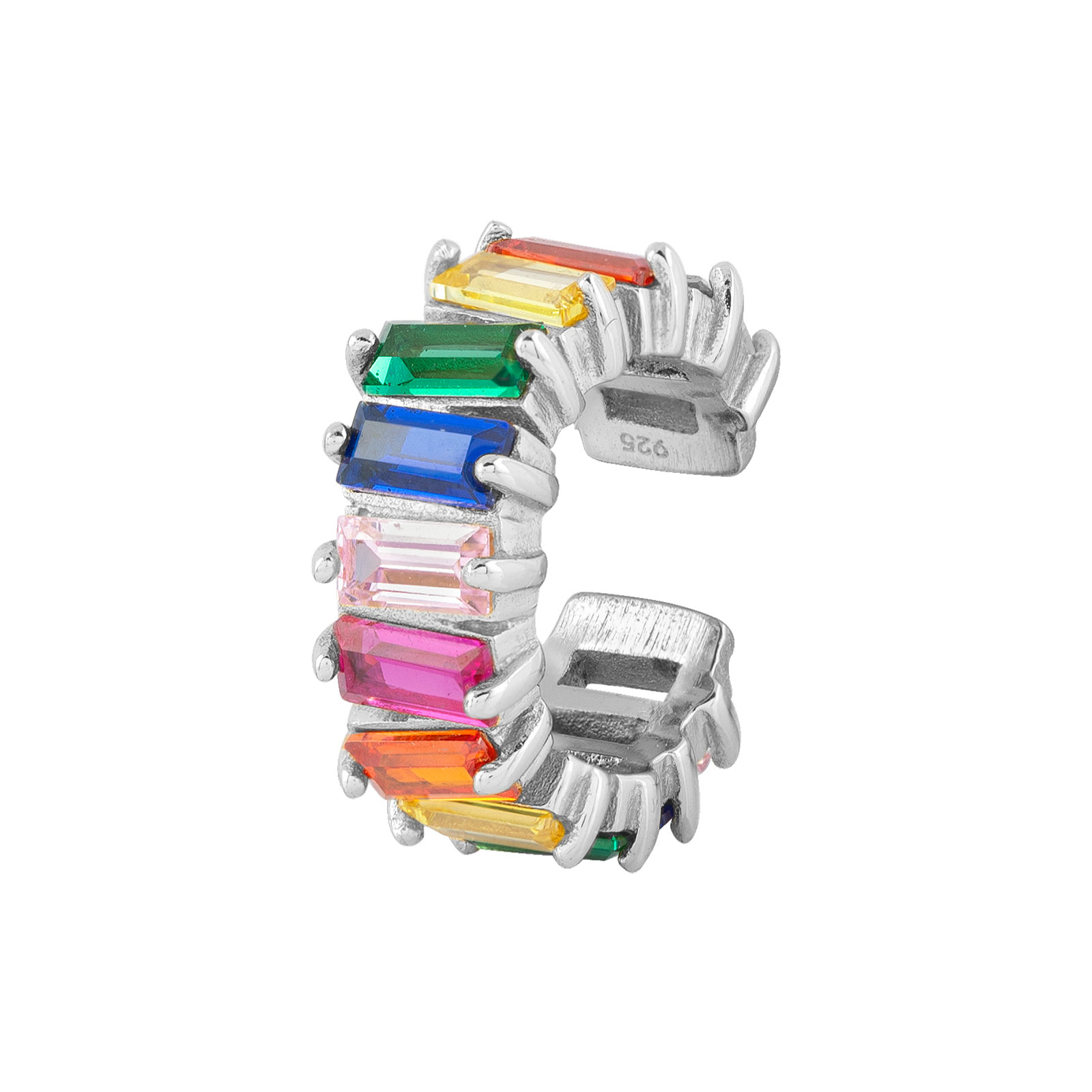 Bred Ear Cuff Sterling Silver 925 Multicolor