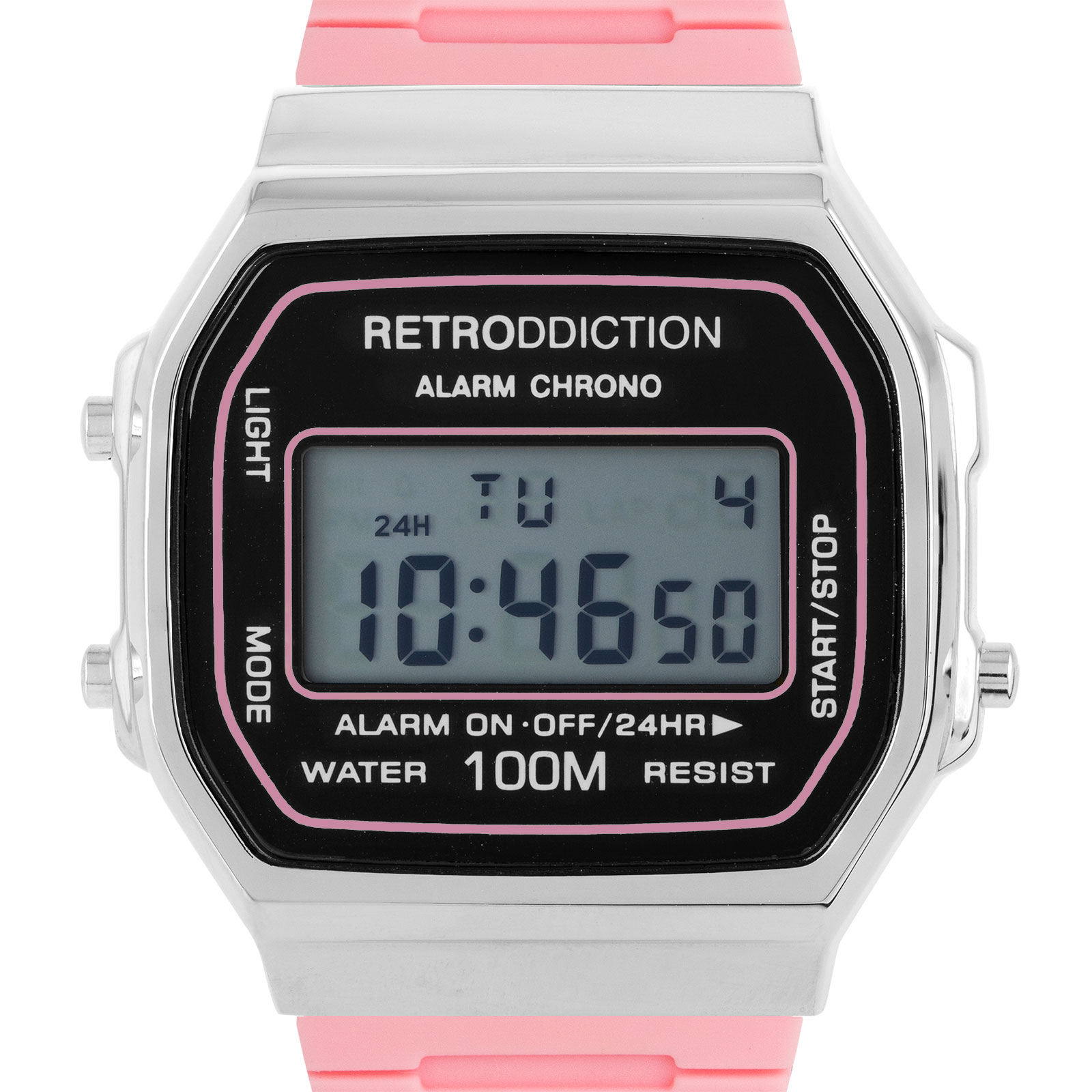 Retroddiction #16 - digitalklocka m. rosa gummiband