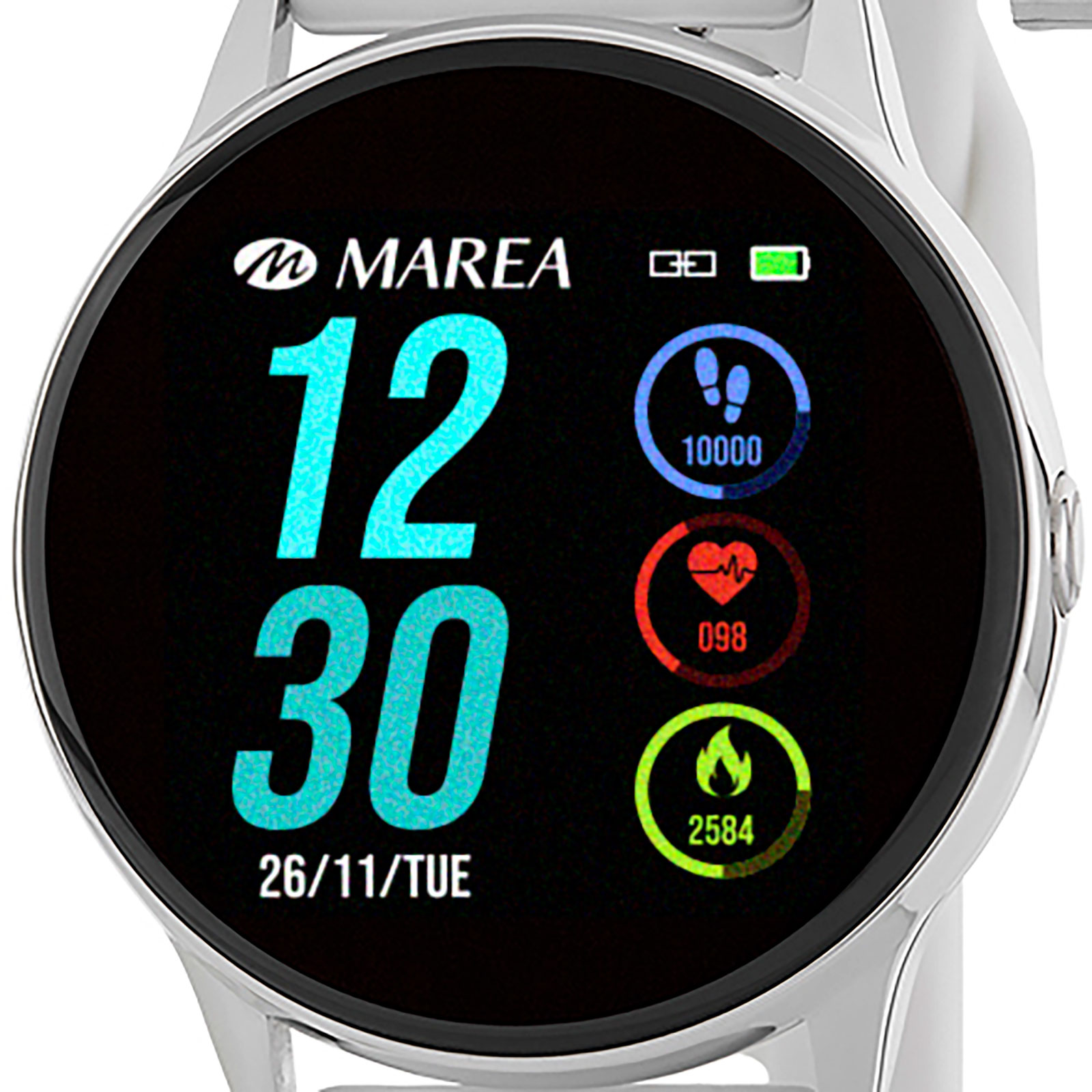 Marea Smart Watch B58001/3 -Vit och Silver