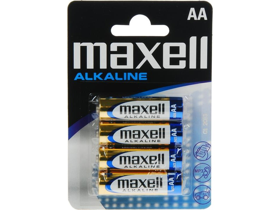 Maxell AA 4-pack batterier